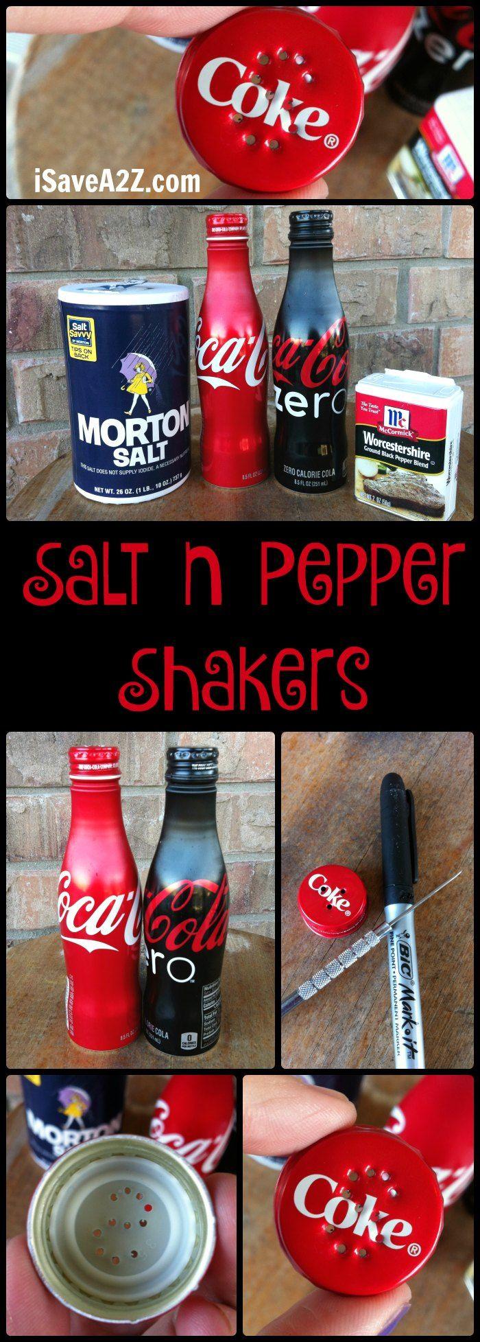 Homemade Coca-Cola Salt n Pepper Shakers