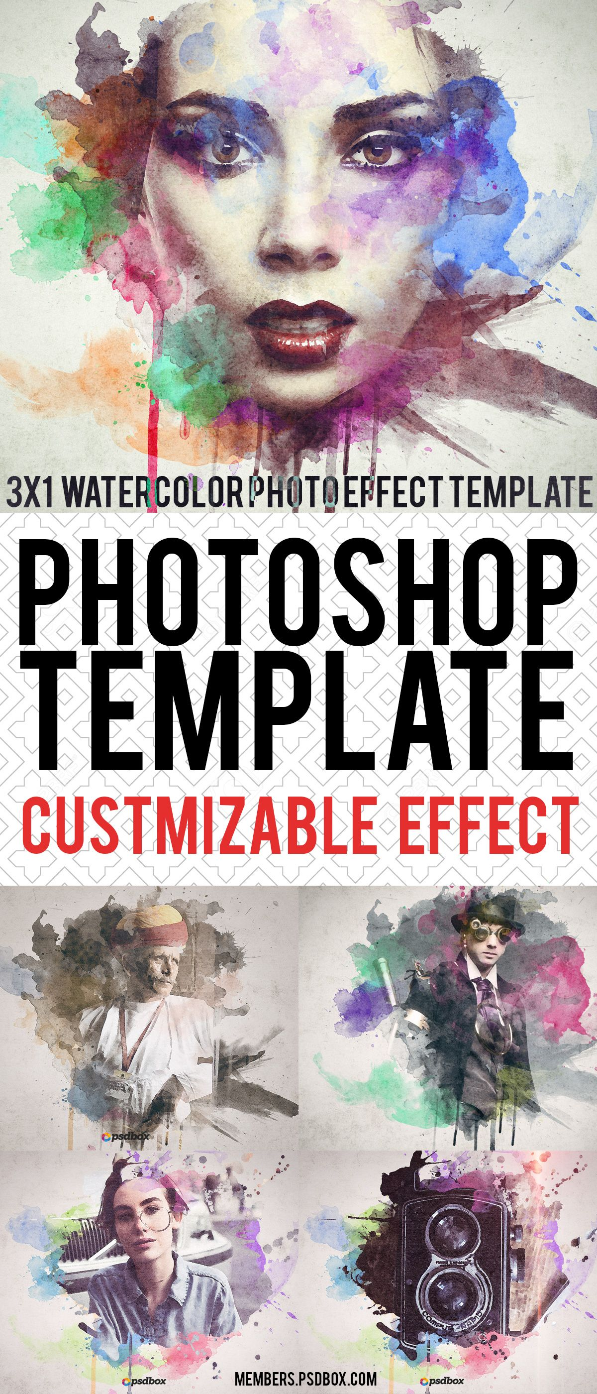 Watercolor Painting Template New Photoshop Cc Tutorials