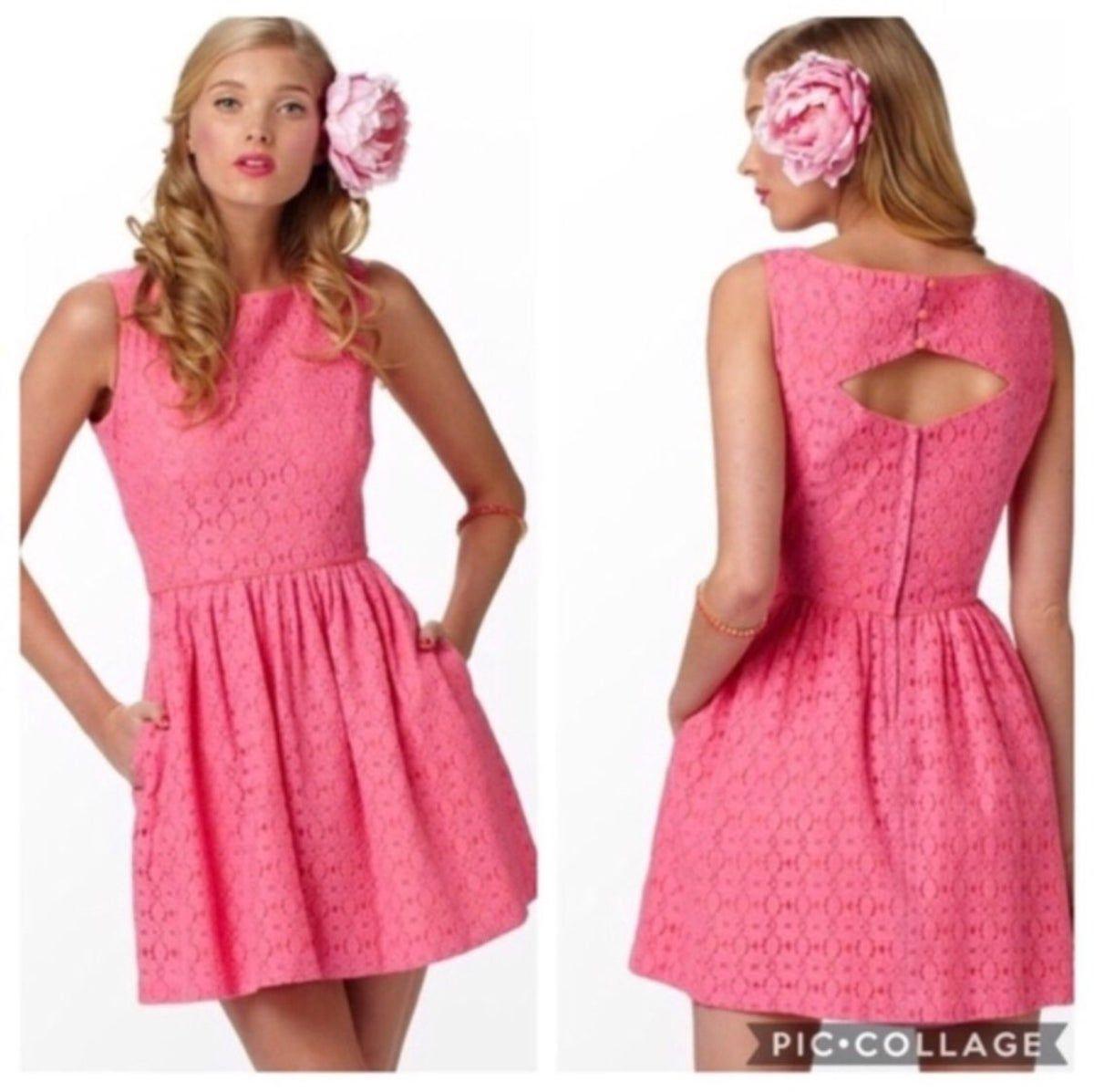 Lilly Pulitzer Aleesa Pink Lace Dress #rosaspitzenkleider