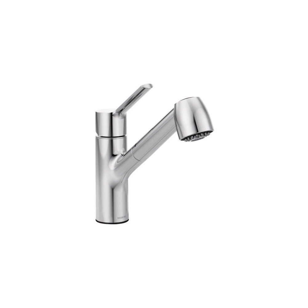 Moen 7585 Method Single Handle Pullout Spray Kitchen Faucet With