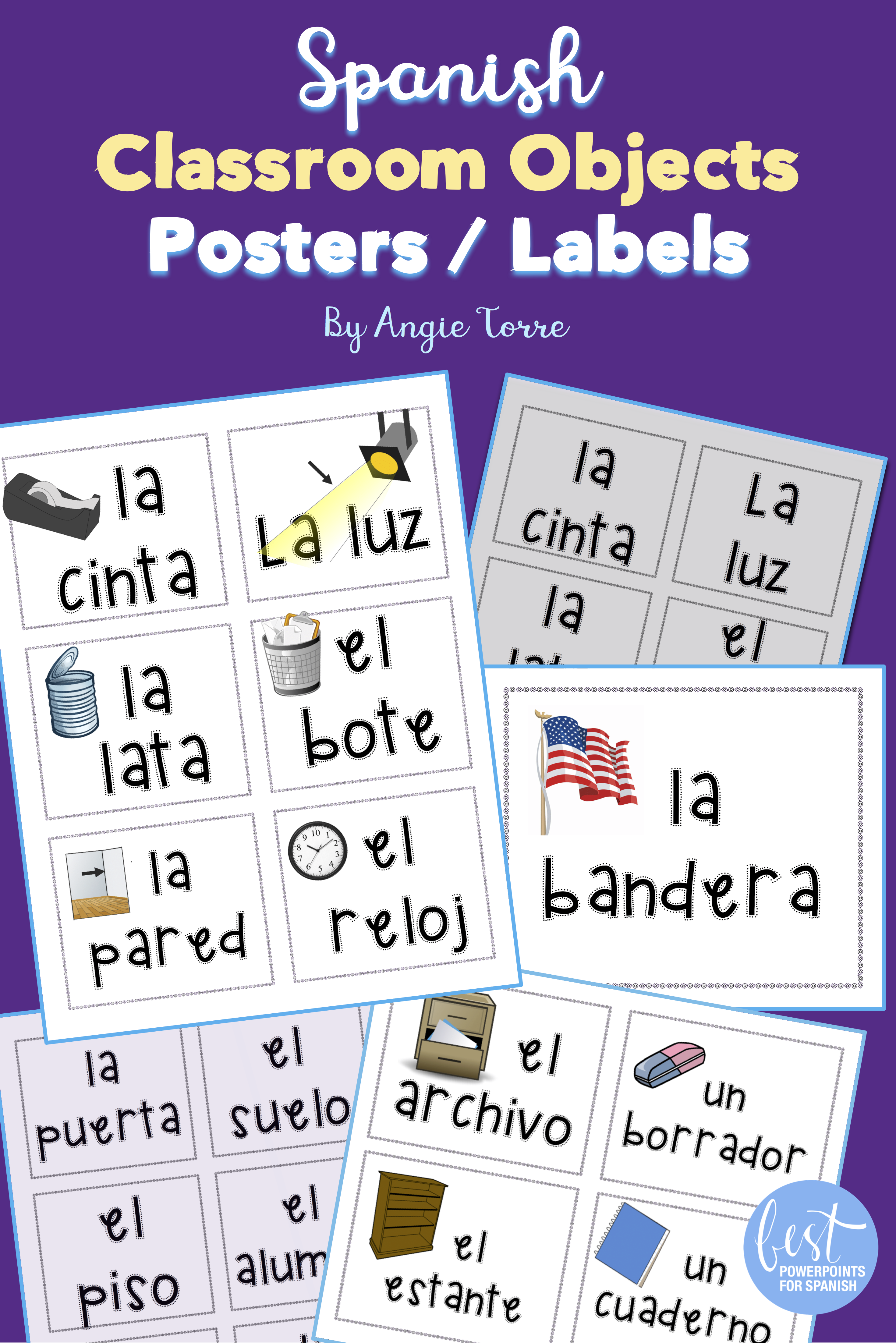 Spanish Classroom Objects Posters