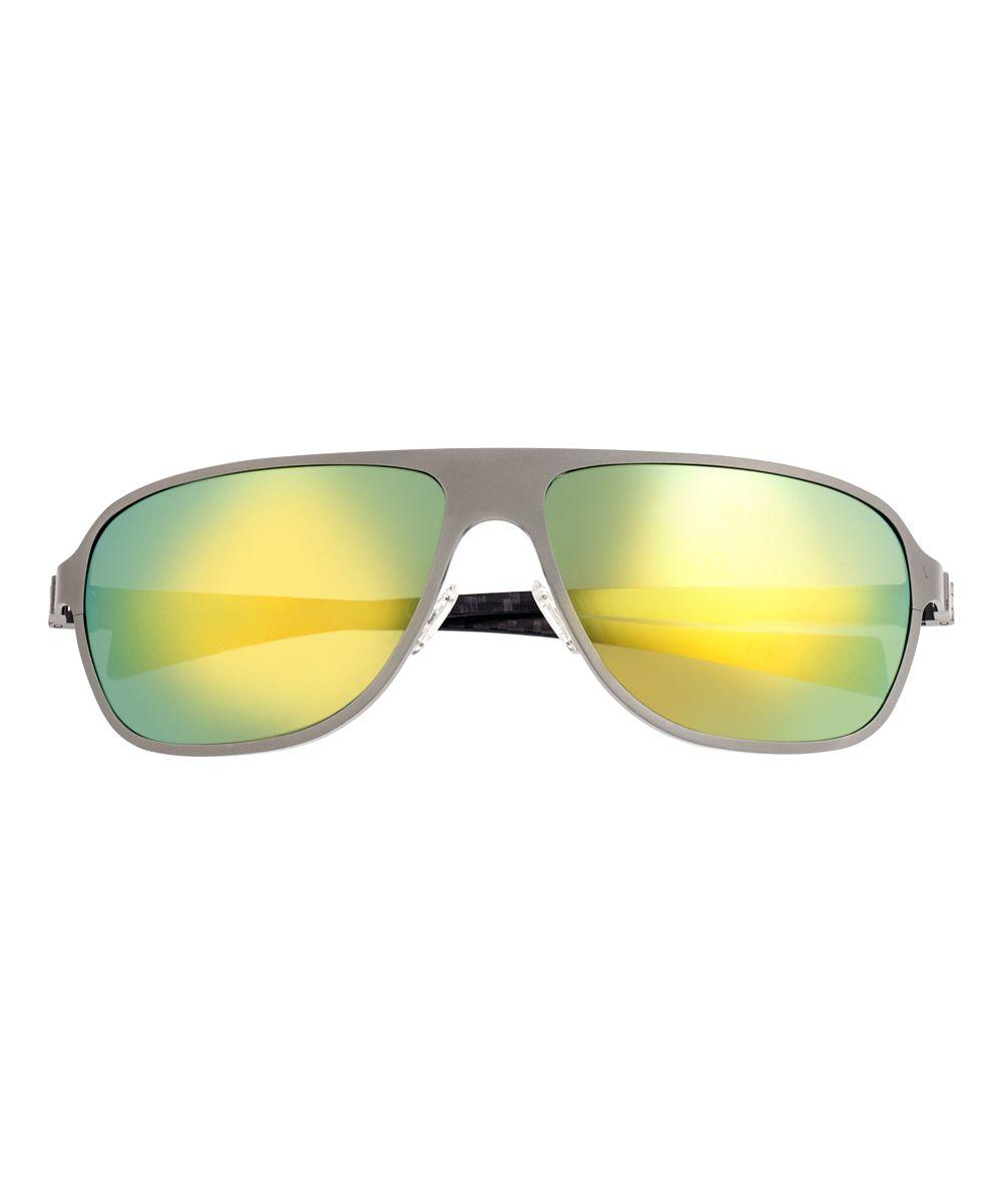 b33a06bf9c Gunmetal & Green Atmosphere Titanium Sport Sunglasses