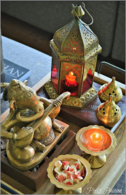 12 Spaces Inspired By India: Brass Artifacts, Diwali Décor, Fall, Fall Décor, Ganesha
