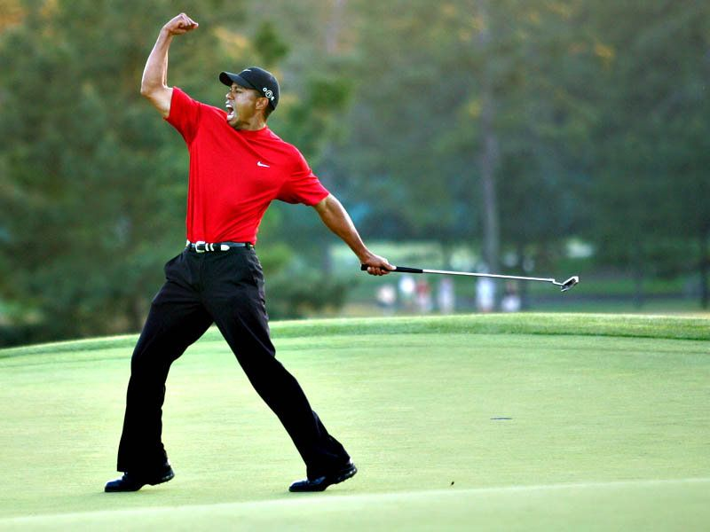Image result for tiger woods fist pump