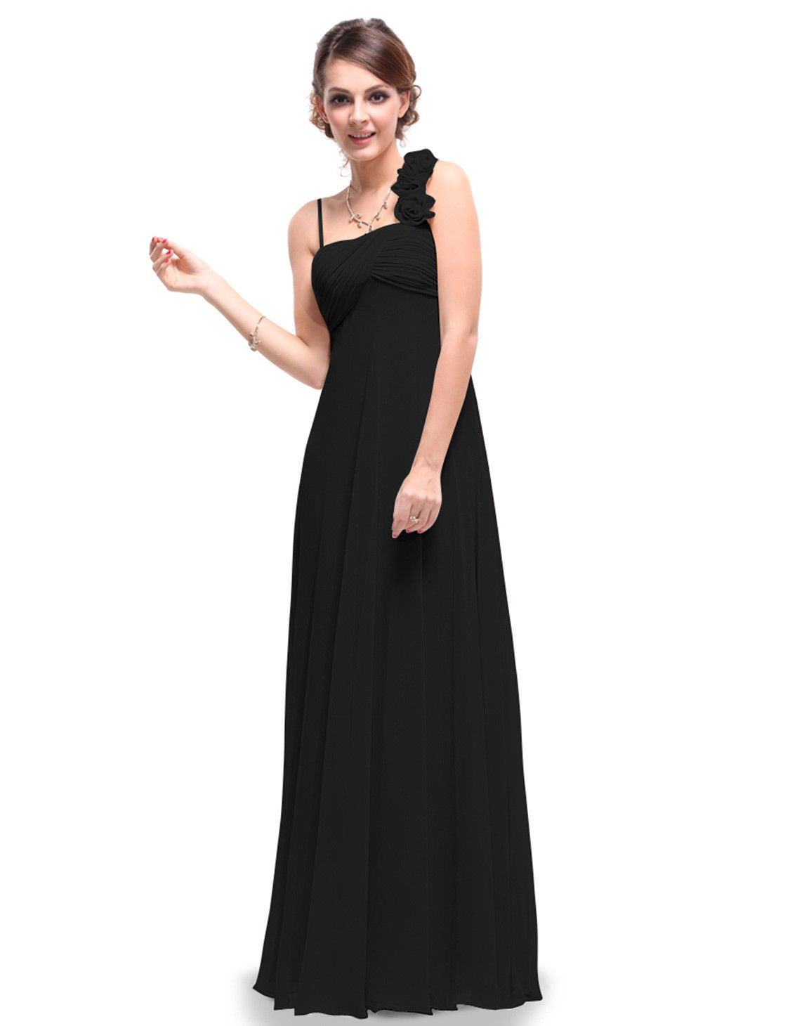 Cool great women evening formal one shoulder party prom plus dress