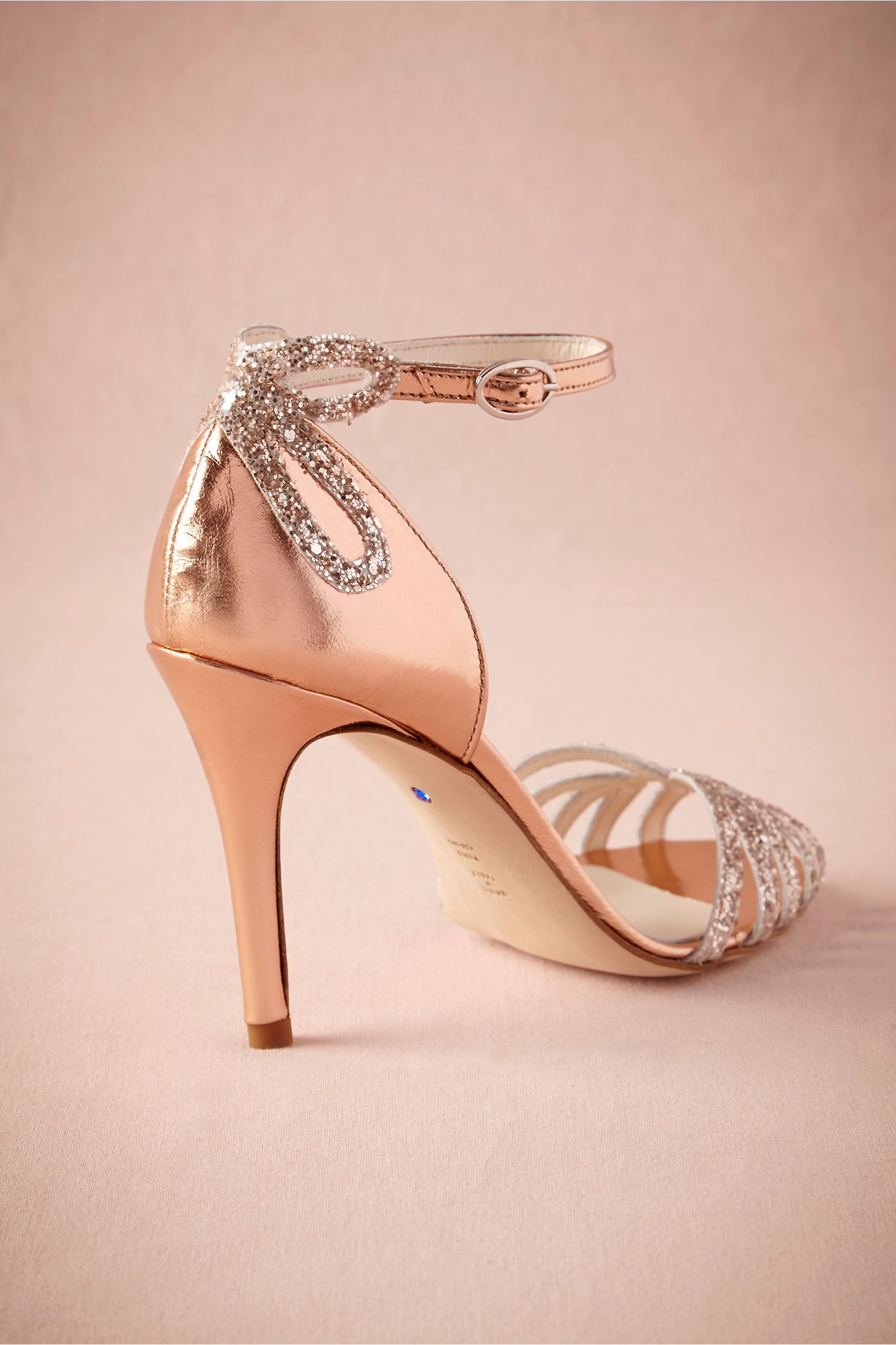 Rose Gold Glittered Heels In Shoes U0026 Accessories Shoes At BHLDN. Flat Bridal  ...