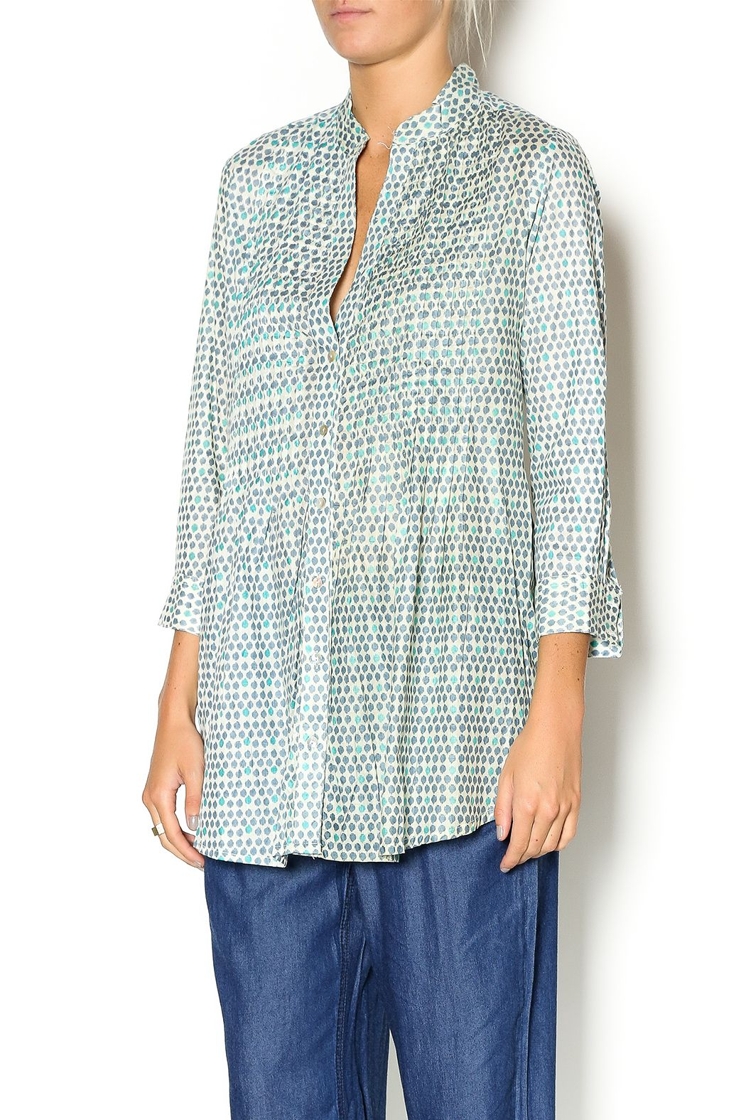Rock flower paper pintuck cotton tunic tunics sleeve and long sleeve rock flower paper pintuck cotton tunic mightylinksfo