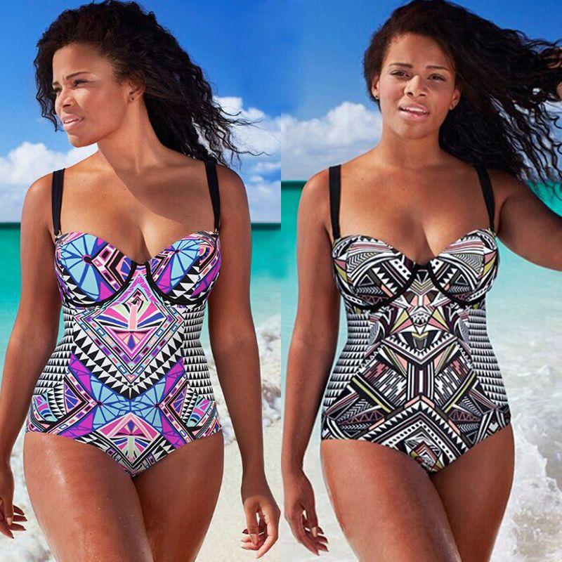 b162210c95 Women One Pieces Swimsuit Plus Size Large Cup Swimsuit High Waist Sexy  Bodysuit Bathing Suit