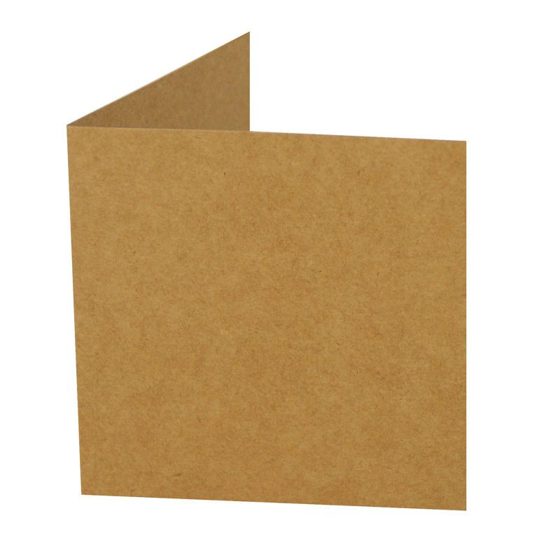 Hobbycraft Card Blanks And Envelopes 6 X 6 Inch Kraft Brown 10pk
