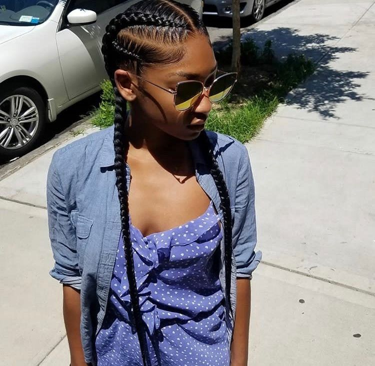 Pin By Gabby Doll On Braids All Shapes And Sizes Two Braids Style Two Braid Hairstyles Braided Hairstyles