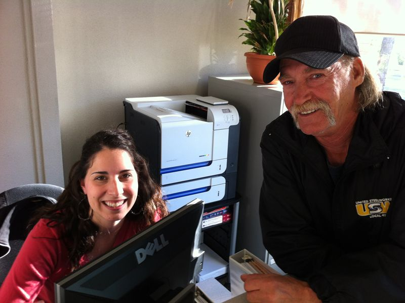 Rebecca Nicholls, our BDC Administrative Assistant and Dave Gaul
