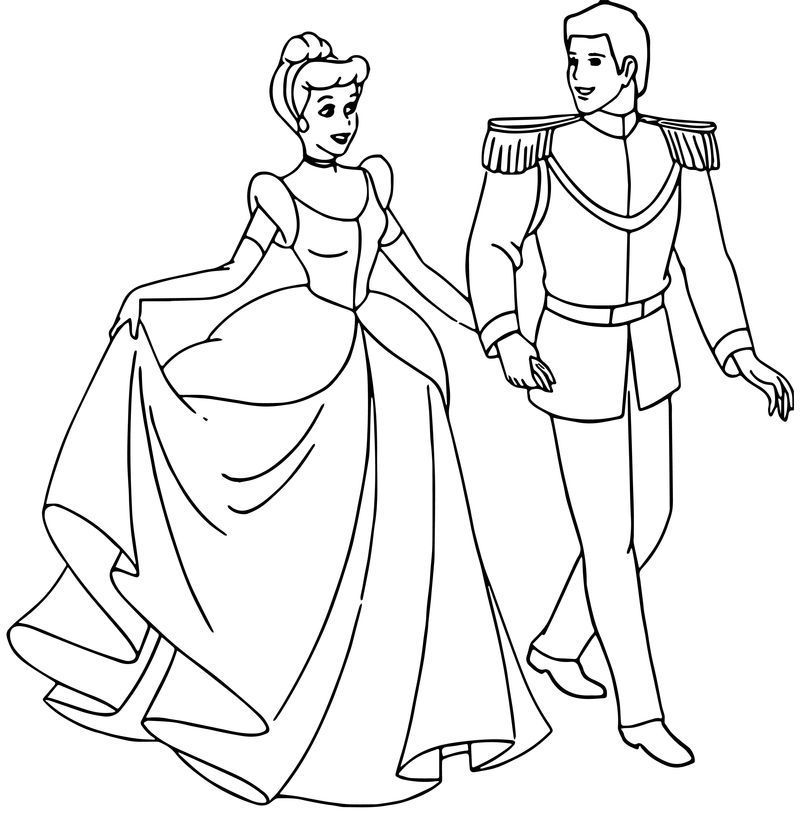 Cinderella And Prince Charming Coloring Pages 33 Cinderella And Prince Charming Princess Coloring Pages Coloring Pages