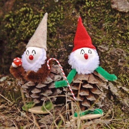 pinecones elves christmas interior decor