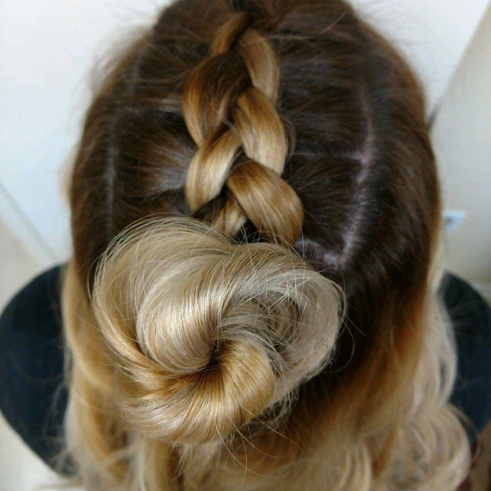 Top knot balayage braid hair hair dous pinterest braid hair