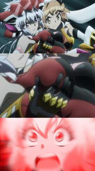 Hibiki's hand knows what it wants Symphogear Senki
