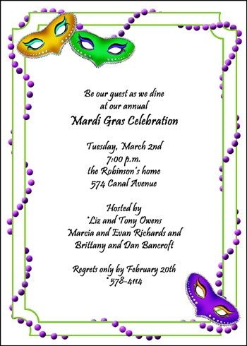Find larege collection of creative party invitation designs for find larege collection of creative party invitation designs for mardi gras invitations at invitationsbyu stopboris Gallery