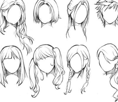 Creative Hair Drawings Manga Hair How To Draw Hair Female Anime Hairstyles
