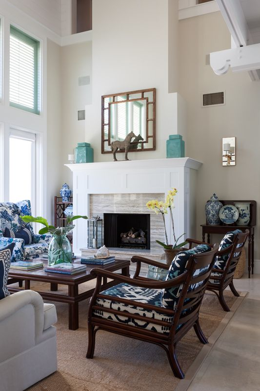 West Indies Style Living Room In Windsor Vero Beach Florida Interior Photography By