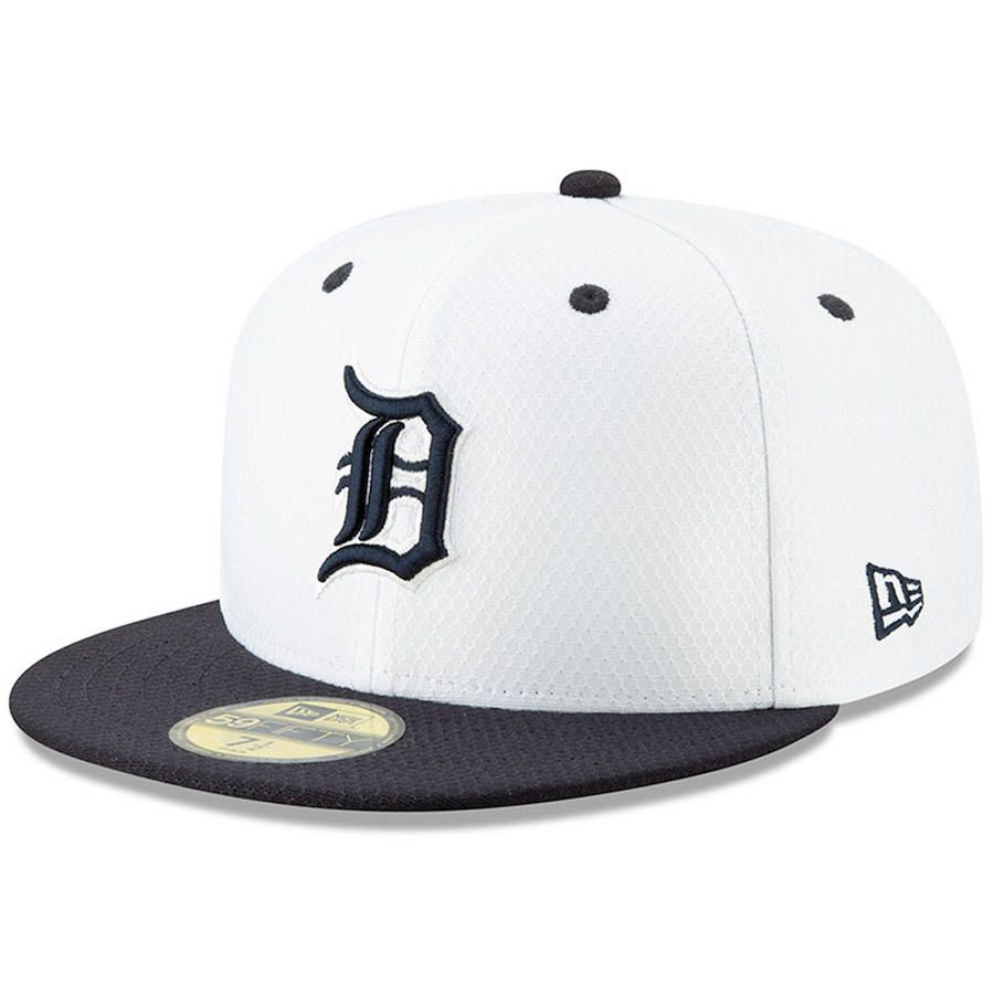 timeless design 36473 27c7f Men s Detroit Tigers New Era White Navy 2019 Batting Practice Home 59FIFTY  Fitted Hat, Your Price   37.99