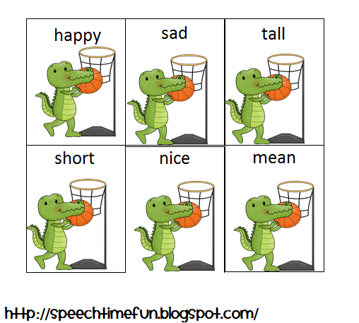 Alligator Antonyms - Pinned by @PediaStaff. - Please Visit http://ht.ly/63sNt for all our pediatric therapy pins