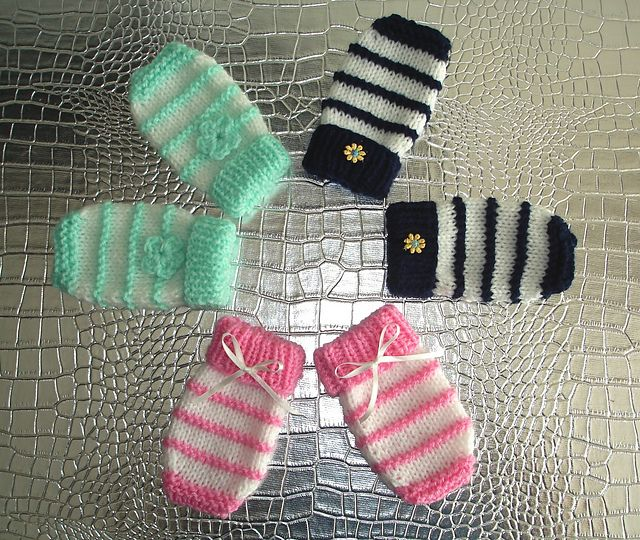 Ravelry: easy knit baby mittens pattern by marianna mel | knitting ...