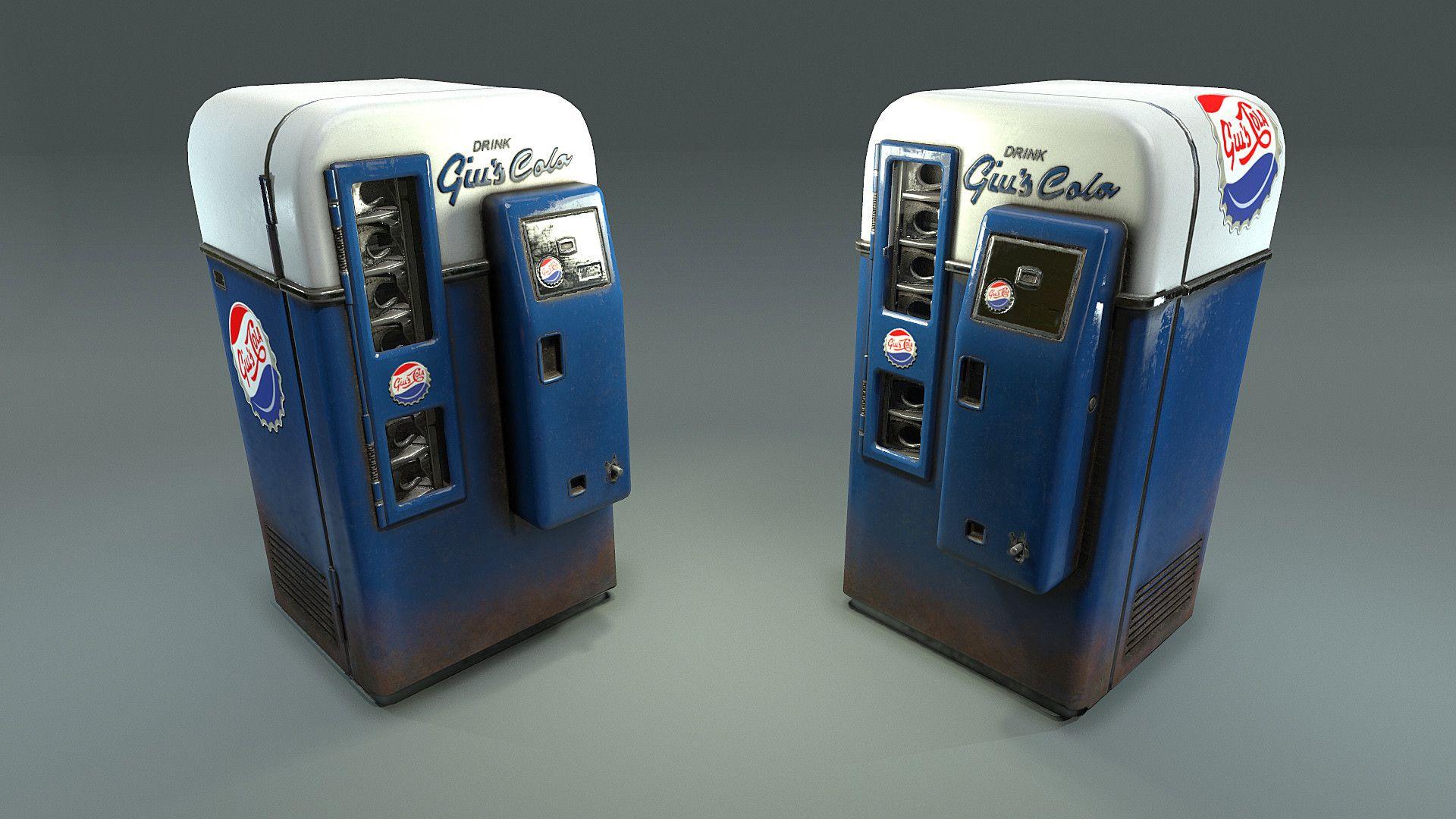 ArtStation - Diorama Coke Machine Asset, Ben Keeling