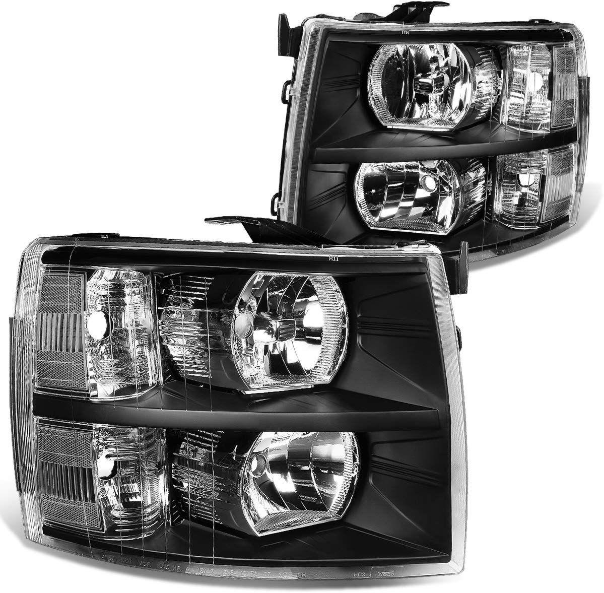 07 14 Chevy Chevrolet Silverado Black Chrome Headlights Chevy Silverado 1500 Silverado 2013 Chevy Silverado