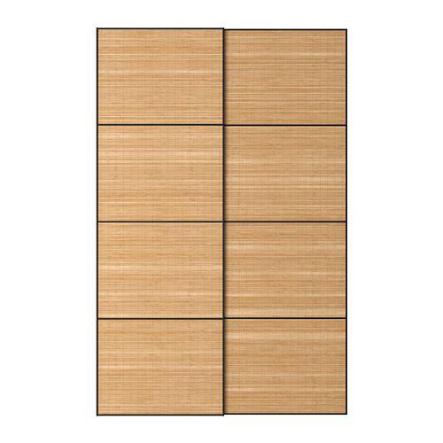 Ikea Fjellhamar Pair Of Sliding Doors Dark Bamboo