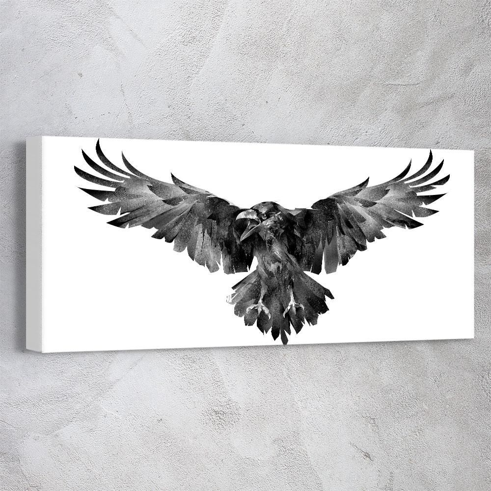 Photo of Gothic Raven – 70in x 24in / canvas