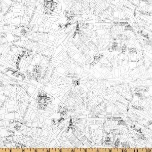 44 wide april in paris map blackwhite fabric by the yard cool 44 wide april in paris map blackwhite fabric by the yard gumiabroncs Gallery