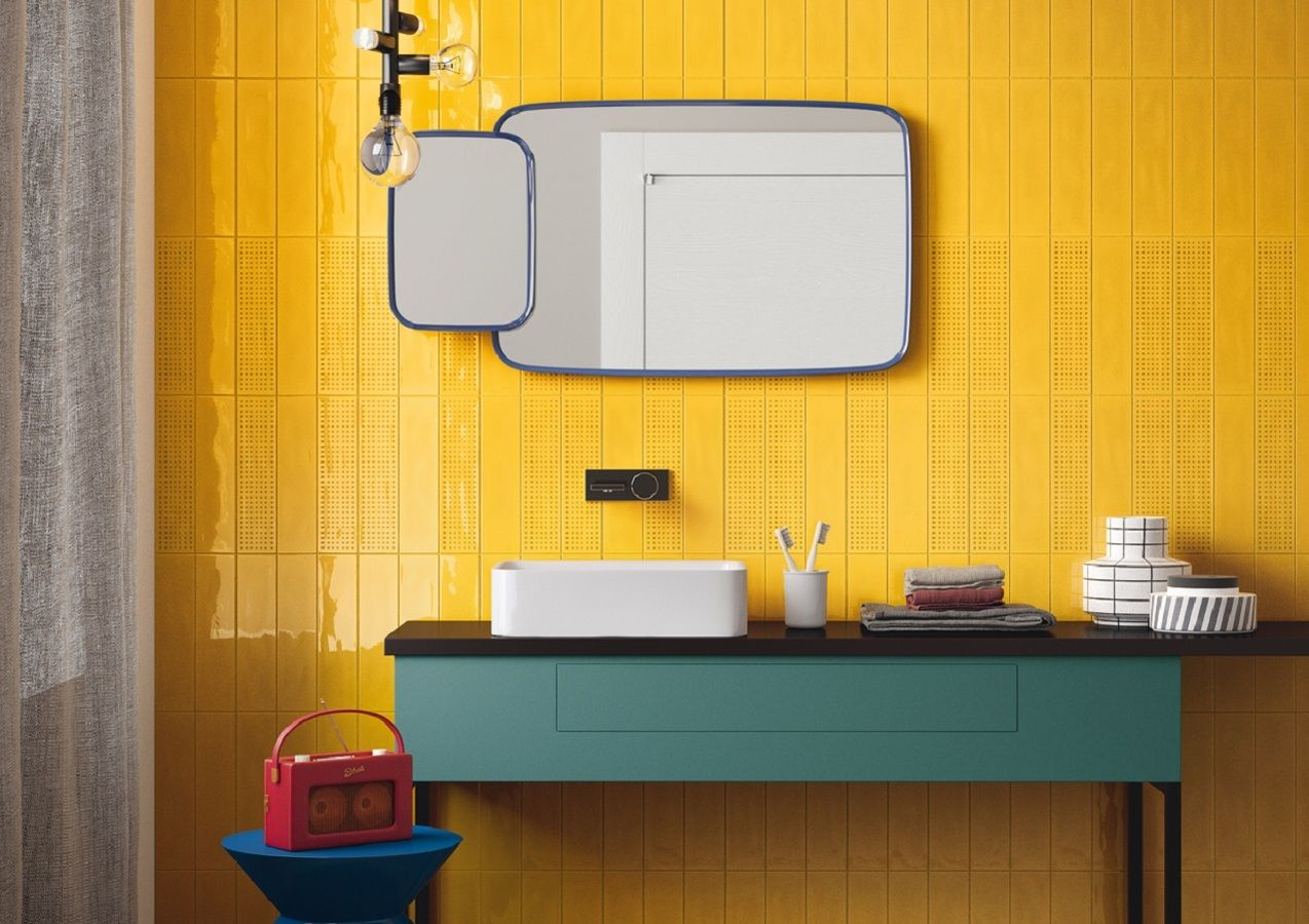 Imola Ceramica Slash 4 Yellow Bathrooms Wall Tiles Color Tile