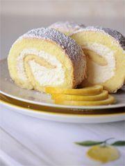 Rezept aus Heimwehküche Backen: Zitronen-Biskuitrolle #süßesbacken