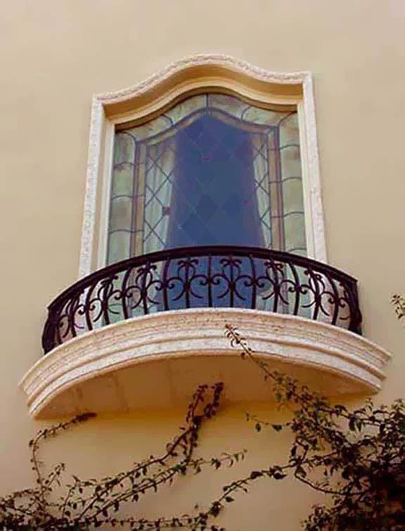wrought iron exterior home accents Wrought Iron Balconies With