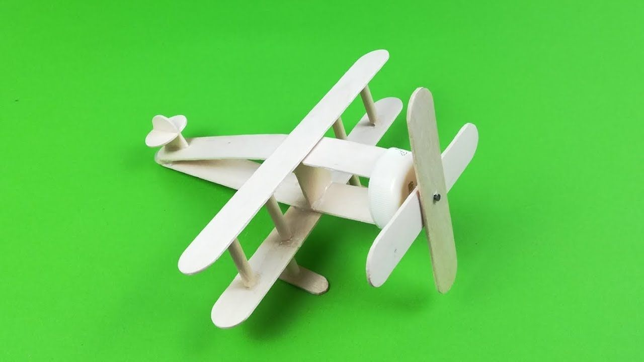 How To Make A Small Plane With Ice Cream Sticks Ice Cream Stick Ice Cream Stick
