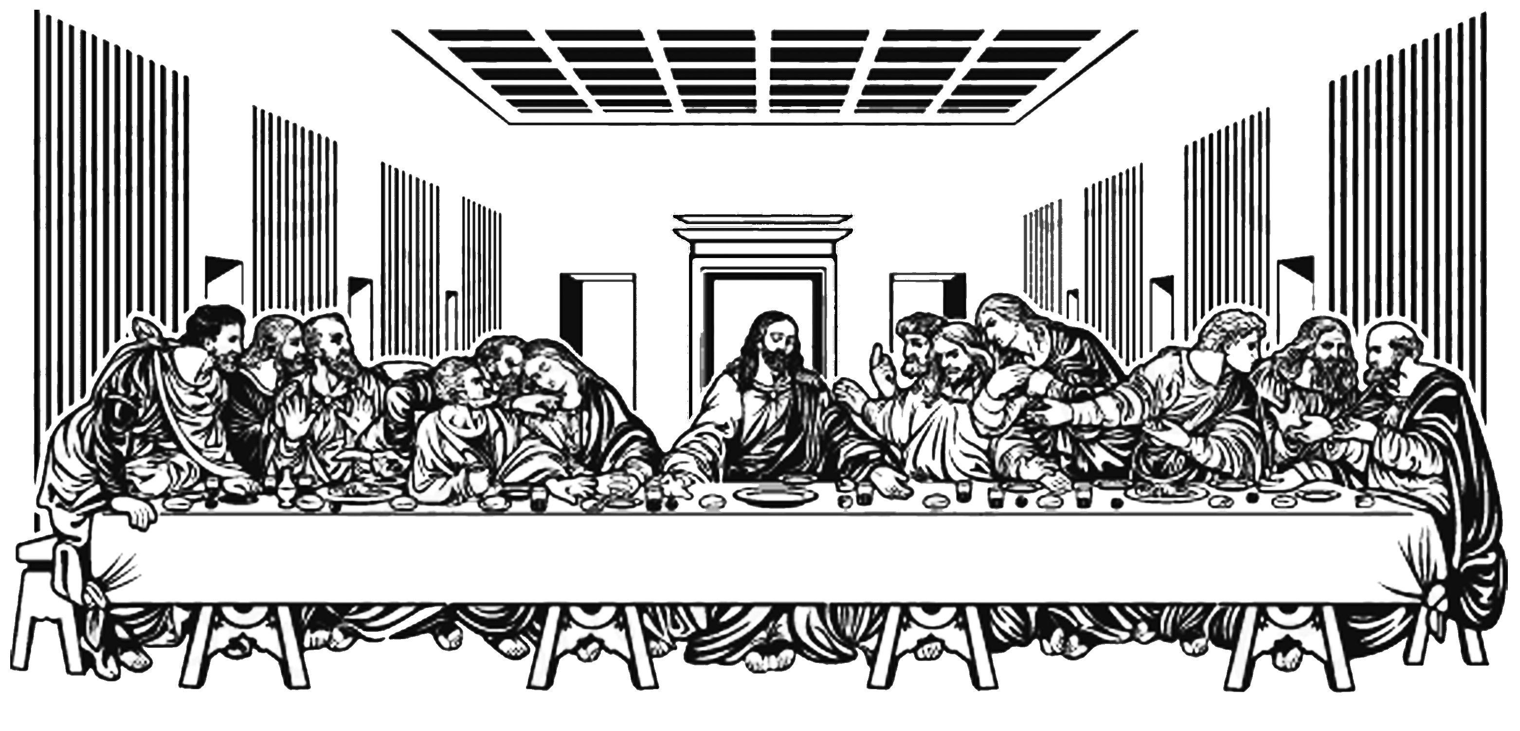 La Ultima Cena Leonardo Da Vinci Com Imagens Pintura Preto E