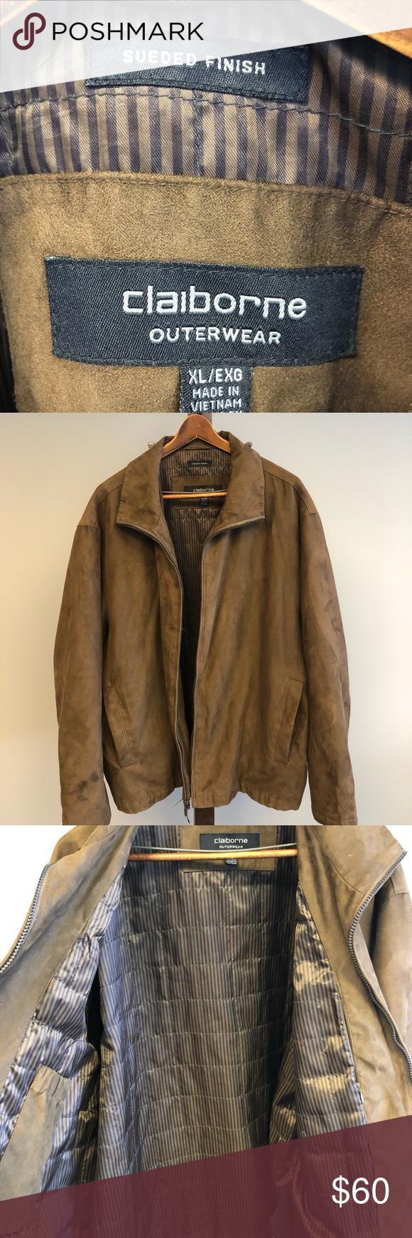 Claiborne Suede Finish Jacket Jackets Claiborne Clothes Design [ 1740 x 580 Pixel ]