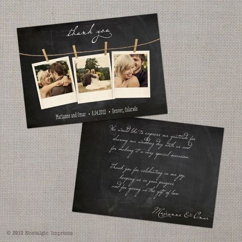 Vintage Wedding Thank You Cards by NostalgicImprints | Thank you ...