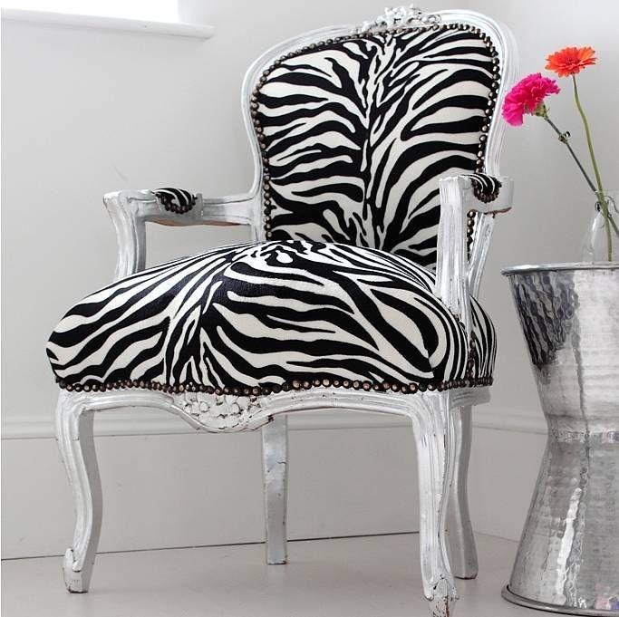 Merveilleux Zebra Print Chair | Shabby Chic Louis Zebra Print Arm Chair    Www.irvinginteriors.