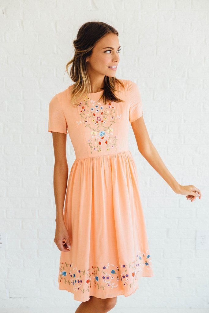 877921c02c24 Adelaide Embroidered Dress