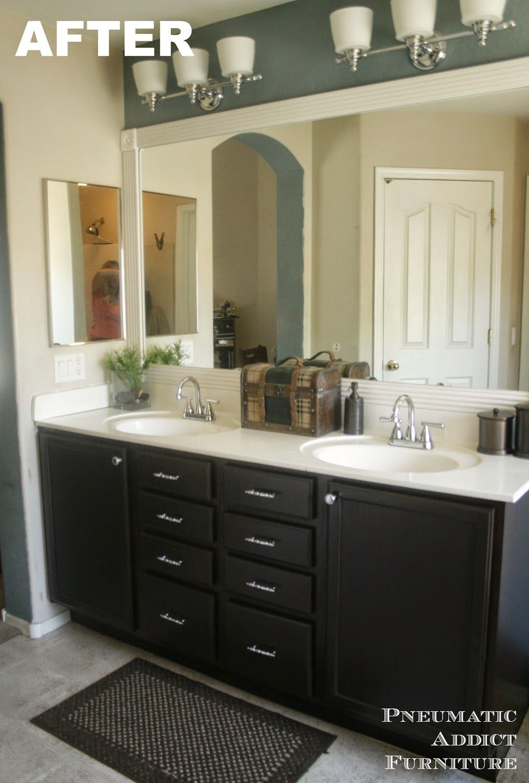 Darken Cabinets Without Stripping The Existing Finish Refinishing Cabinets Cheap Home Decor Bathroom Decor
