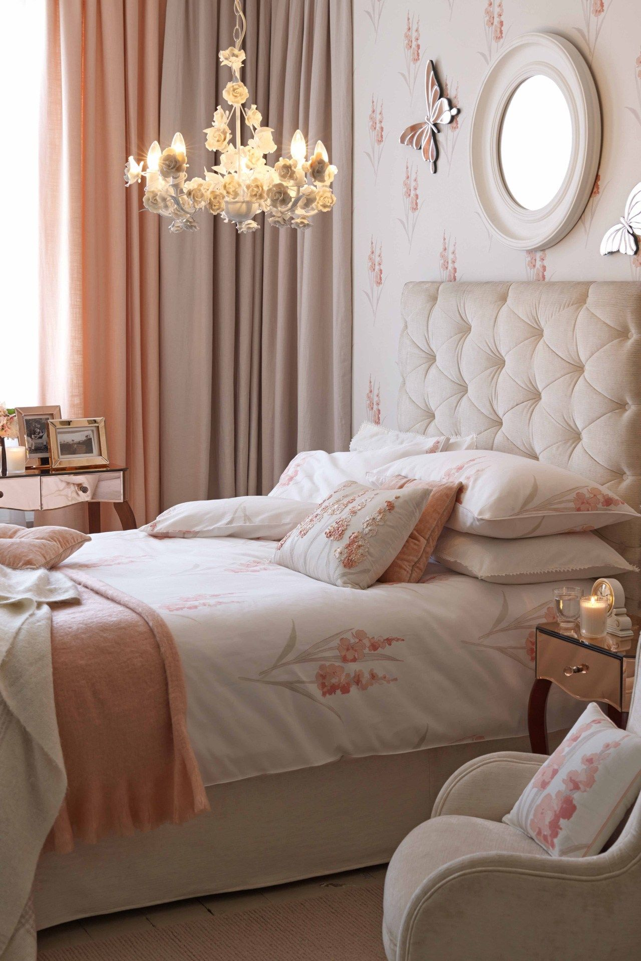 cool coral - bedroom design ideas & pictures – decorating