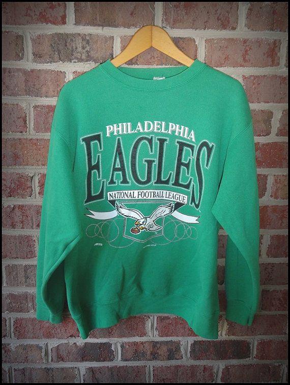 Vintage 90 s Philadelphia Eagles Classic Logo Crewneck by CharchaicVintage 3e742e14b