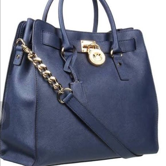 47ae7548fc Authentic Micheal Kors Hamilton large Very nice Michael Kors Royal blue  Hamilton Large north south tote bag. (Also has the gray one The exact same)  Michael ...