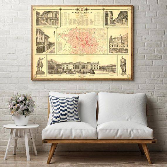 Bogota Old Map| Bogota Map| Colombia Old Map| Colombia Map| South ...