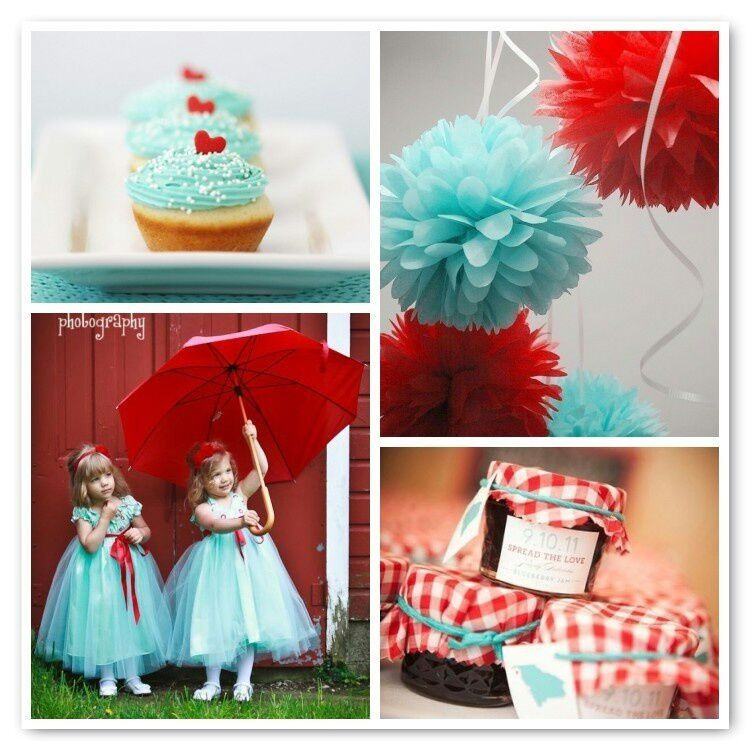 Red And Tiffany Blue Wedding Ideas: Pretty Tiffany Blue And Red Combo