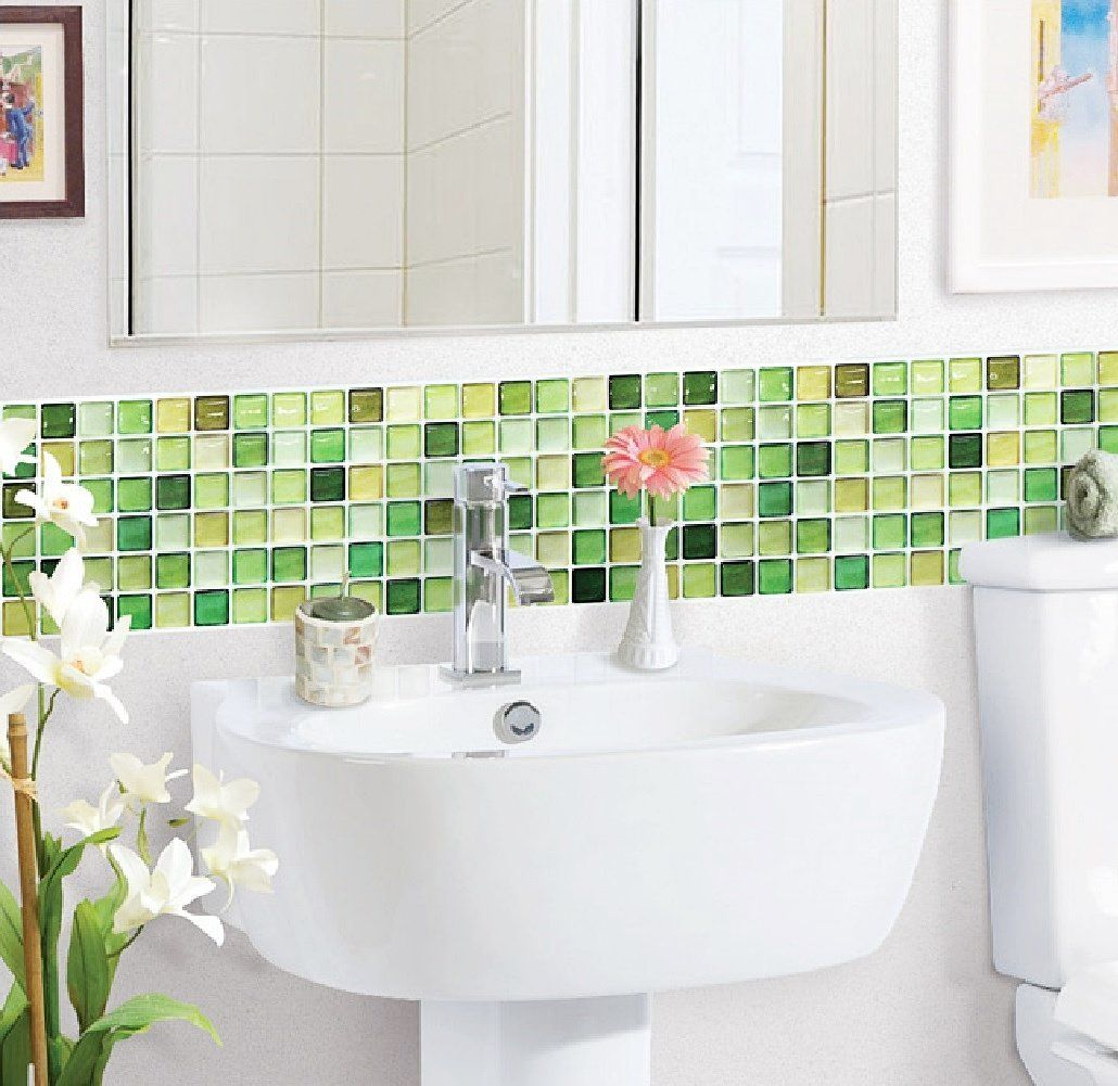Lime green glass tiles - ideas and products | Lime green decor ...