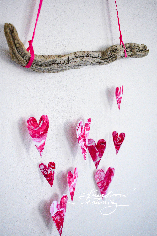 Valentýn dekorace: srdíčkový závěs │ Valentines day decorations