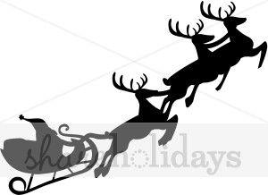 For Christmas Cake Christmas Clipart Black And White Sleigh