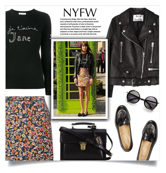 """""""nyfw 2"""" by valentino-lover ❤ liked on Polyvore featuring Bella Freud, Acne Studios, Dorothy Perkins, Christian Louboutin and Yves Saint Laurent"""