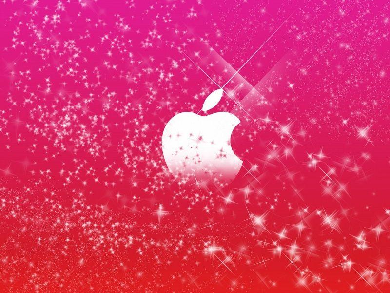 Pink Sparkles Apple Logo Hd Wallpaper On Mobdecor Backgrounds Girly Sparkle Wallpaper Pink Glitter Wallpaper